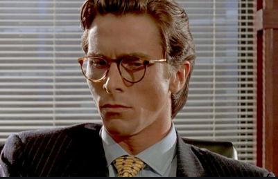 Gafas. Gafas en Fratelli Óptica. Óptica en Chamartín. Óptica en Madrid. Oliver Peoples. Christian Bale, Patrick Bateman, American Psycho.